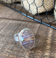 Agate statement ring