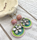 Groovy pastel earrings