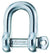 "Wichard 1/4"" Diameter D Shackle w/ Captive Pin"