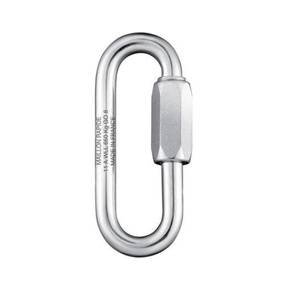"Peguet 10mm (7/16"") Galvanized Steel PPE Certified Large Opening Maillon Rapide Quick Link"