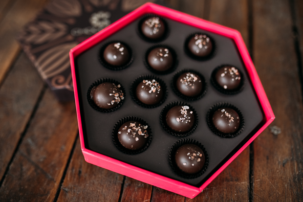 Sea Salted Caramel Truffle Gift Box - Chocodiems