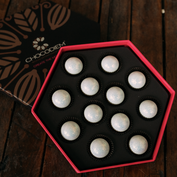 Signature Pearl Truffle Gift Box - Chocodiems