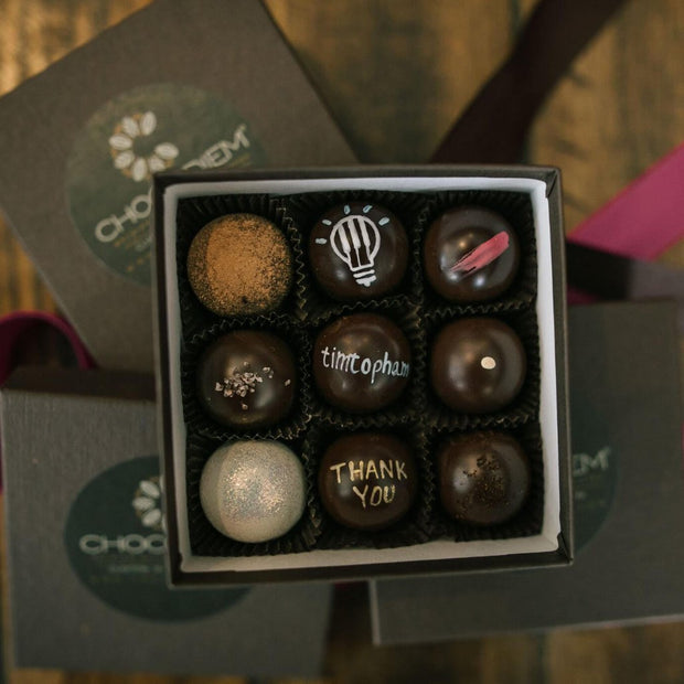 9 Piece Truffle Box - Chocodiems