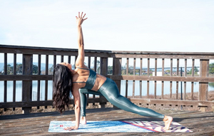 Blue Mamba Yoga Mat