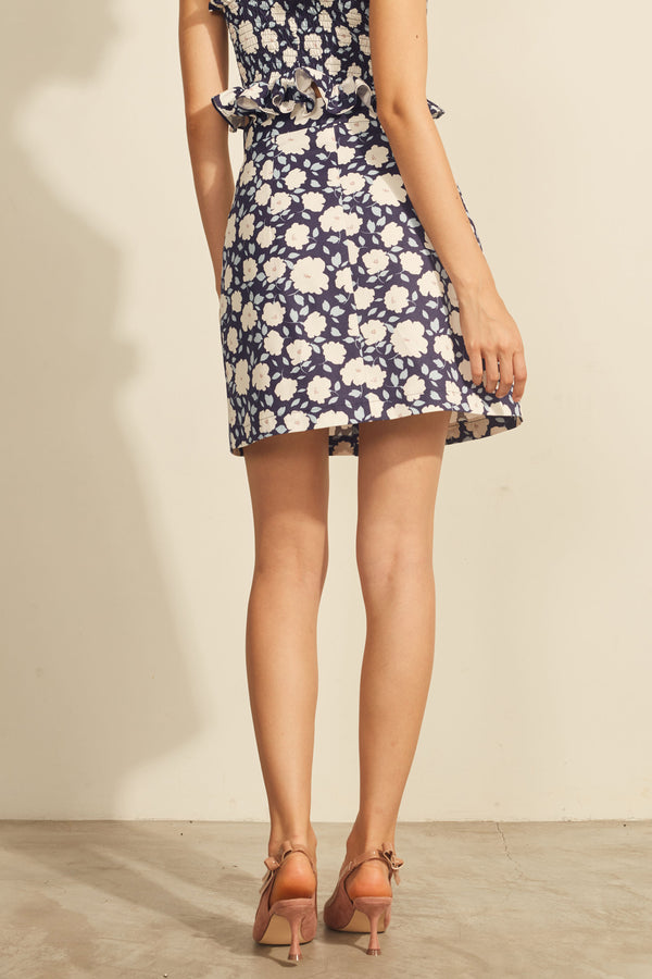 Julianna Floral Skirt (Navy)