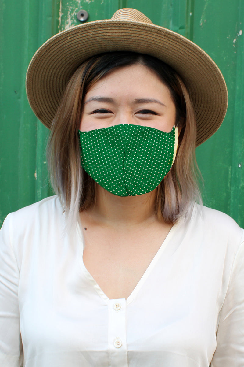 Fitted Face Masks (Pack of 3) - Green