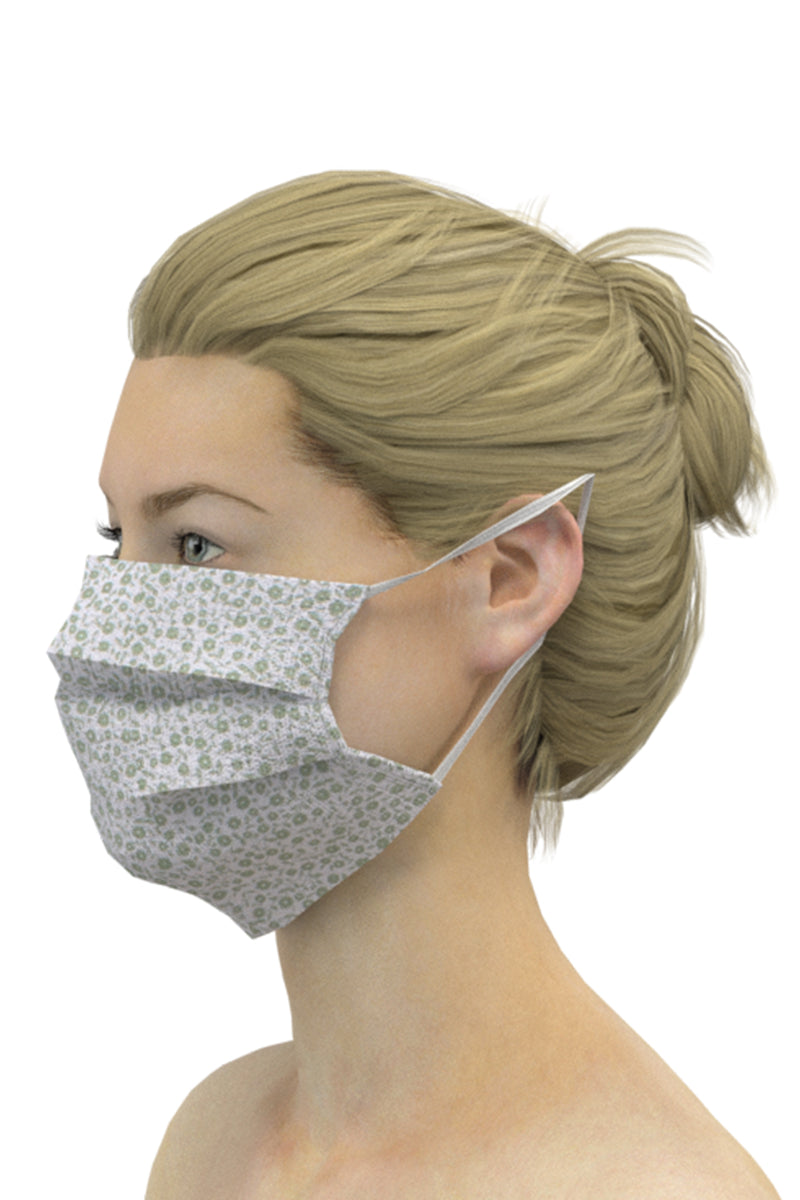 Face Masks (Pack of 3) - Green