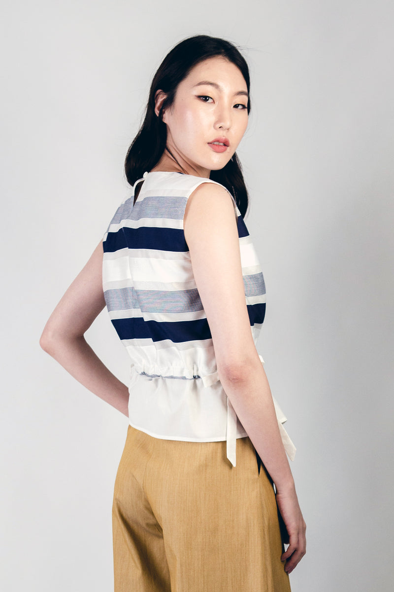 Samira Top (Navy Stripes)