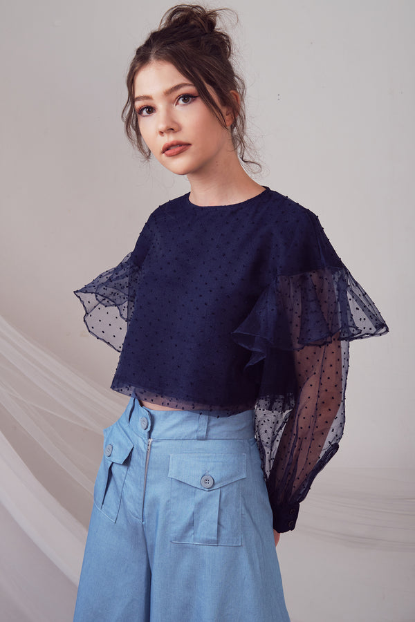 Ginny Blouse (Navy)