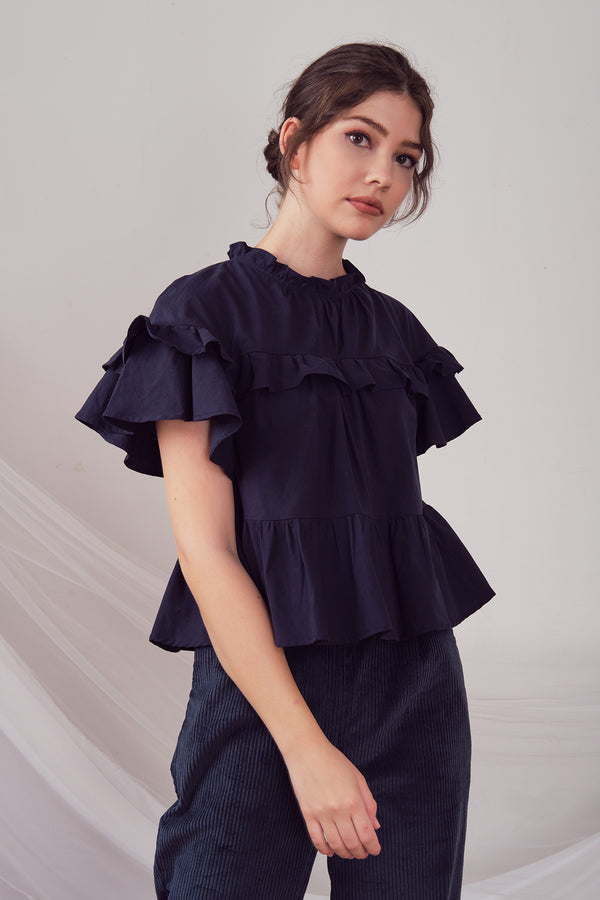 Ulla Blouse (Navy)