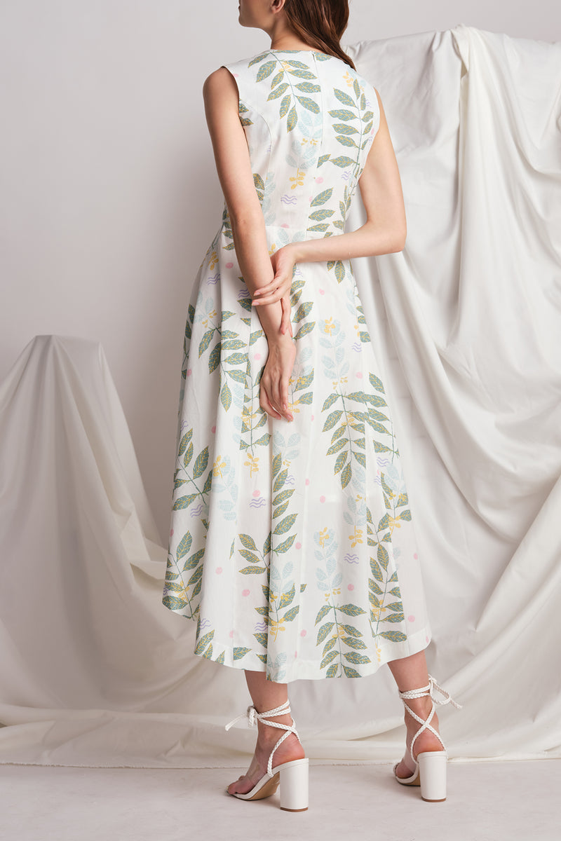 Alicia Dress (Leafy)