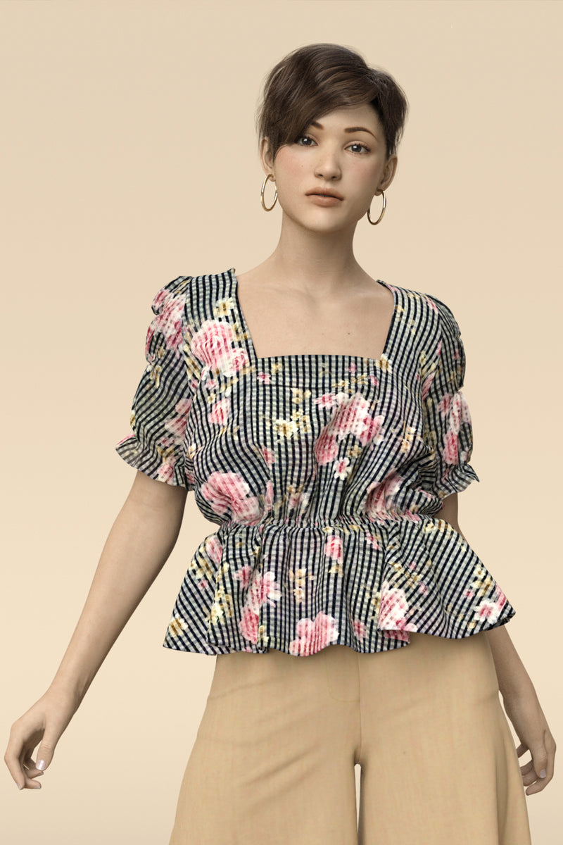 Camille Chiffon Top