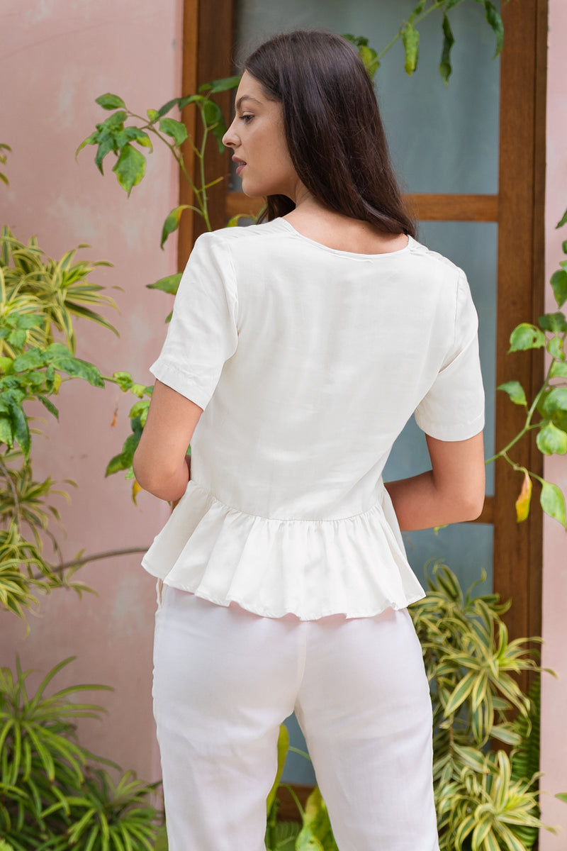 Julie Blouse (Bone)