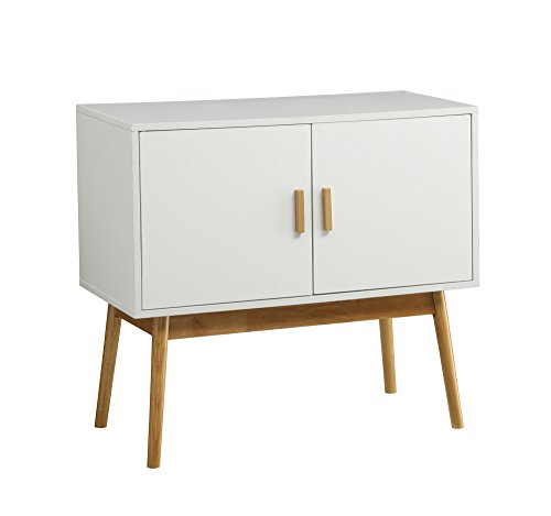 Amsterdam White/Wood Grain Console Table