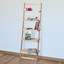 Load image into Gallery viewer, 5-Tier Decorative Leaning Ladder Shelf - Burnt Spaces