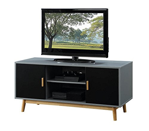 Amsterdam TV Stand (Grey/Black) - Burnt Spaces
