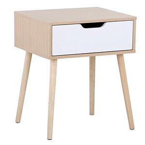 Helena Walnut/White Side Table - Burnt Spaces