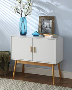 Amsterdam White/Wood Grain Console Table - Burnt Spaces