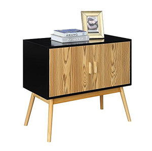 Amsterdam Black/Wood Grain Console Table - Burnt Spaces