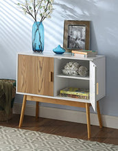 Load image into Gallery viewer, Amsterdam White/Wood Grain Console Table - Burnt Spaces