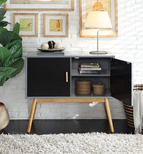 Load image into Gallery viewer, Amsterdam Grey/Black Console Table - Burnt Spaces