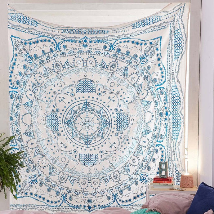 Mandala Tapestry Baby Blue - Burnt Spaces