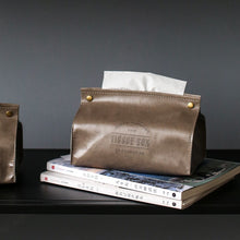 Load image into Gallery viewer, PU Leather Tissue Box Cover - Burnt Spaces