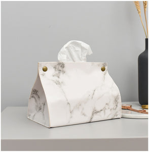Marble Design Tissue Cover - Burnt Spaces