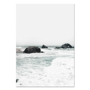 Cali Beach Canvas Print - Burnt Spaces