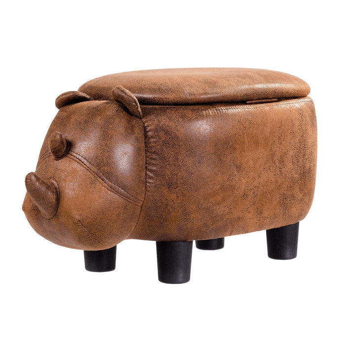Rhinocer Storage Ottoman - Burnt Spaces