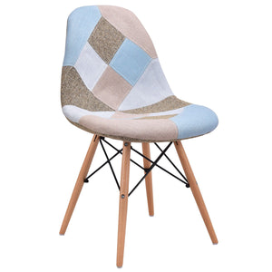 Geo Fabric Upholstered Dining Chairs - Burnt Spaces