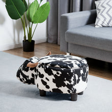 Load image into Gallery viewer, Cow Storage Ottoman - Burnt Spaces