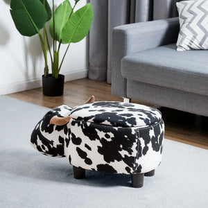 Cow Storage Ottoman - Burnt Spaces