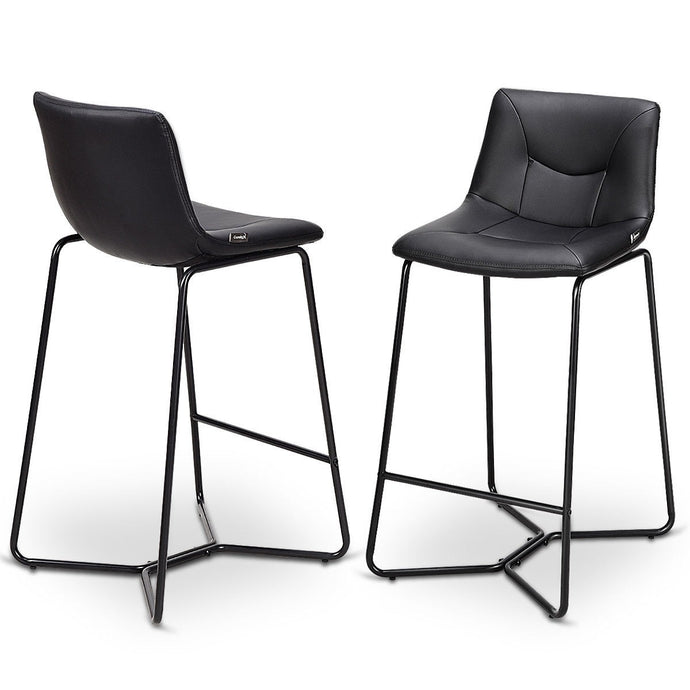 Cole PU Leather Bar Stool Set - Burnt Spaces