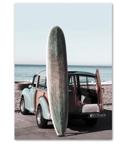 Surf Board Canvas Print - Burnt Spaces