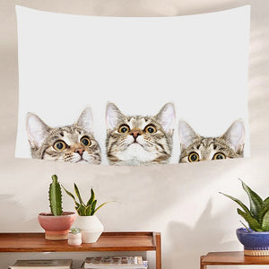 Cute Cats Tapestry - Burnt Spaces