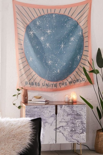 Star Babes Unite The World Tapestry