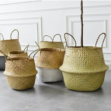 Load image into Gallery viewer, Natural Seagrass Woven Belly Basket - Burnt Spaces