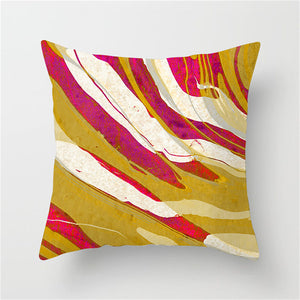 Color Fusion Pink and Gold Cushion Cover - Burnt Spaces