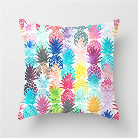 Pineapple Color Pop Cushion Cover