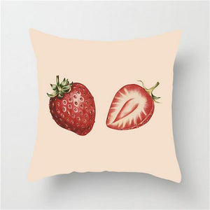 Strawberry Fruit Cushion Cover - Burnt Spaces