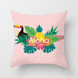 Aloha Tropical Pink Cushion Cover - Burnt Spaces