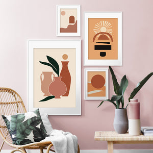 Warm Neutral Natalie Canvas Print - Burnt Spaces