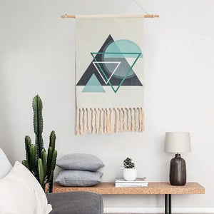 Brian Hand-knitted Tassel Tapestry - Burnt Spaces