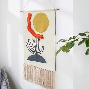 Sunny Hand-knitted Tassel Tapestry - Burnt Spaces