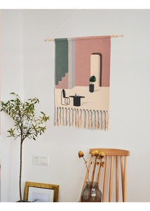 Ray Hand-knitted Tassel Tapestry - Burnt Spaces