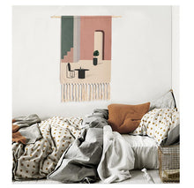 Load image into Gallery viewer, Ray Hand-knitted Tassel Tapestry - Burnt Spaces