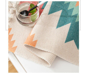 Joey Geometric Hand-knitted Tassel Tapestry - Burnt Spaces