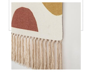 Jasmine Hand-knitted Tassel Tapestry - Burnt Spaces