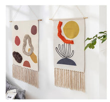 Load image into Gallery viewer, Sunny Hand-knitted Tassel Tapestry - Burnt Spaces